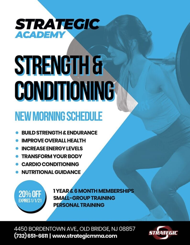 Strategic Academy, Strength & Conditioning , Morning Schedule,